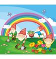 Cartoon of gnomes vector image