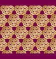 celtic ornament seamless pattern gold lace vector image