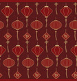 chinese traditional lanterns seamless pattern on vector image