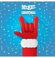 Christmas Rock n roll greeting card vector image vector image