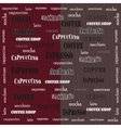 Coffee wallpaper red brown vector image vector image