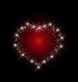constellation love vector image vector image