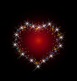 Constellation of love vector image vector image