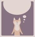 Cute thinking cat card design