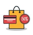 e-commerce buy online credit card design vector image vector image
