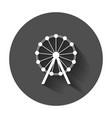 ferris wheel icon carousel in park icon amusement vector image vector image