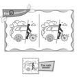 find 9 differences game free cars black vector image