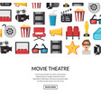 flat cinema icons background with place for vector image vector image