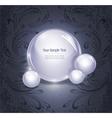 glowing orb vector image