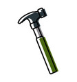 hammer construction tool vector image vector image