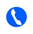 handset glyph icon vector image