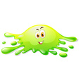 Happy face on water splash vector image vector image