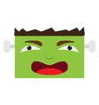 happy halloween cartoon zombie avatar vector image vector image