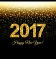 happy new year postcard vector image vector image