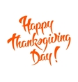 Happy Thanksgiving Day Calligraphic text vector image vector image