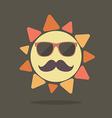 Hipster summer sun vector image