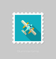 hydroplane stamp summer vacation vector image vector image