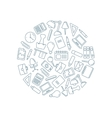 icons set of stationery vector image vector image