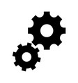 isolated gear design vector image