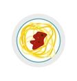 italian pasta icon flat style vector image
