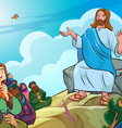 jesus give lecture vector image vector image