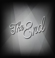 last frame from film end film vector image vector image