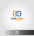 link code - connection logo vector image vector image
