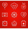 Love icons vector image