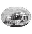 modern parthenon the athenians vintage engraving vector image vector image