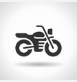 monochromatic motorcycle icon with hovering vector image vector image