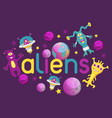 monster alien poster banner vector image