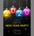 new year poster template with bright balls vector image vector image