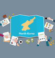 north korea country growth nation team discuss vector image vector image