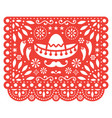 papel picado floral design with sombrero vector image vector image