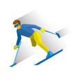 para-alpine ski disabled skier running downhill vector image vector image