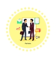 Partners People Icon Flat Design vector image vector image
