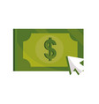 payments online banknote money cash clicking flat vector image
