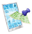 phone map app concept vector image vector image