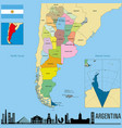 political map of argentina vector image vector image