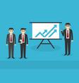 presentation business people presentation concep vector image