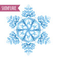 realistic snowflake composition vector image vector image