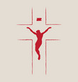 religious banner with cross and crucifix jesus vector image vector image