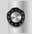 round safe lock with numbers on bright metallic vector image vector image