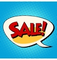 Sale comic book bubble vector image vector image