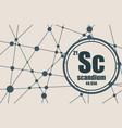 scandium chemical element vector image vector image
