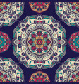 seamless pattern with ornamental floral ethnic vector image