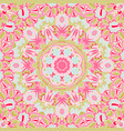 seamless pink floral background with abstract vector image