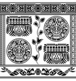 set ancient american ornaments vector image