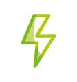 silhouette dangerous energy hazard symbol to vector image vector image
