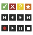 Simple hand draw game icons set vector image vector image